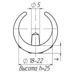 Накладка зажимная для труб 18-22