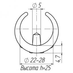 Накладка зажимная для труб 22-28