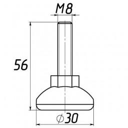 Опора регулируемая под М8 D30M8L56