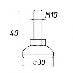 Опора регулируемая под М10 D30M10L40