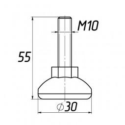 Опора регулируемая под М10 D30M10L55