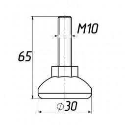 Опора регулируемая под М10 D30M10L65