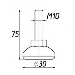 Опора регулируемая под М10 D30M10L75