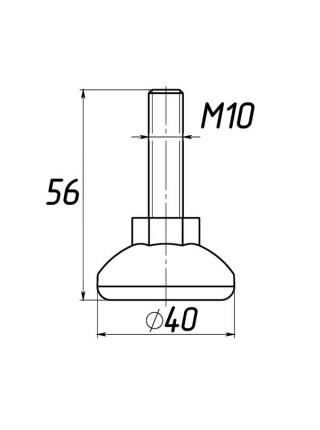 Опора регулируемая под М10 D40M10L56