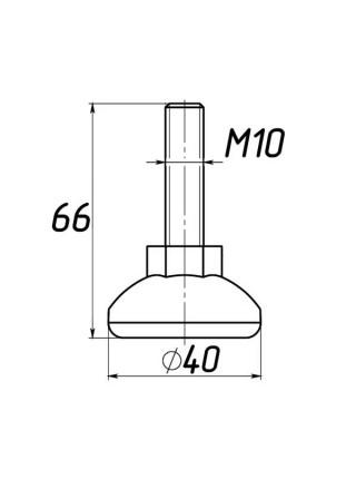Опора регулируемая под М10 D40M10L66