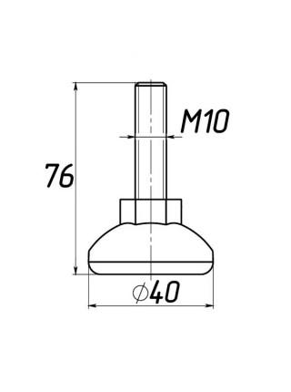 Опора регулируемая под М10 D40M10L76