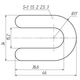 Подкова для плитки 1,5 мм