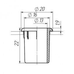 Заглушка для антисреза диаметром 16 мм