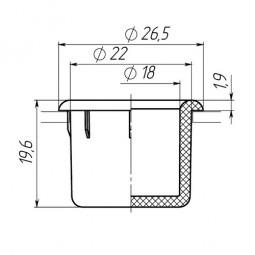 Заглушка для антисреза диаметром 22 мм