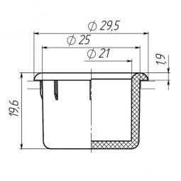Заглушка для антисреза диаметром 25 мм