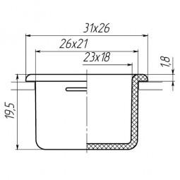 Заглушка для антисреза 21x26