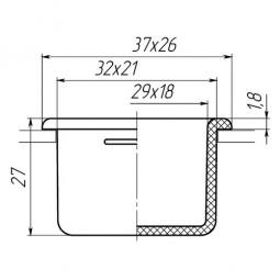 Заглушка для антисреза 21x32
