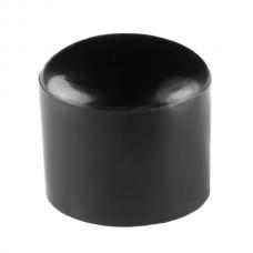 Наружная заглушка пластиковая для труб сечением 20 мм черная