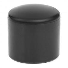 Наружная заглушка пластиковая для труб сечением 25 мм черная