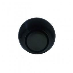 Наружная заглушка 27 мм черная