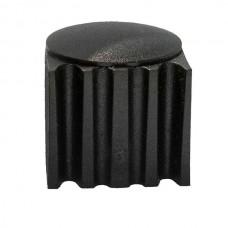 Пластиковая наружная заглушка подпятник 27 мм черная