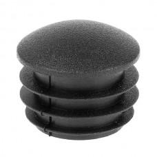 Заглушка круглая 25 мм линза черная