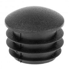 Заглушка круглая 25 мм со шляпкой формы линза черная