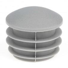 Заглушка круглая 25 мм со шляпкой формы линза серая