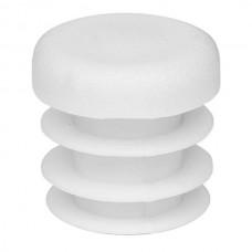 Заглушка на трубу круглая 18 мм белая