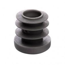 Заглушка на трубу круглая 18 мм серая