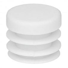 Заглушка на круглую трубу пластиковая сечением 20 мм белая