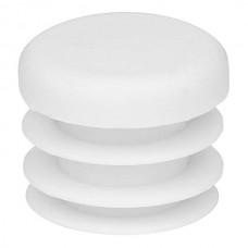 Заглушка на трубу круглая 22 мм белая