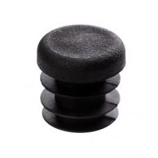 Заглушка круглая диаметром 22 мм черная