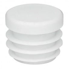 Заглушка круглая 25 мм белая