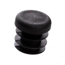 Заглушка круглая 25 мм черная