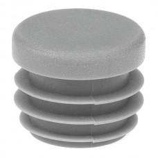 Заглушка круглая 25 мм серая