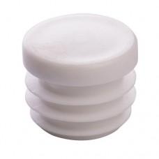 Заглушка пластиковая для труб сечением 28 мм белая