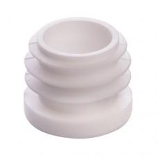 Заглушка пластиковая для труб сечением 30 мм белая
