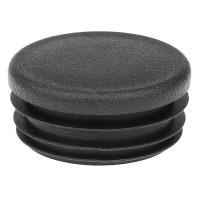 Заглушка круглая 42 мм черная