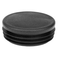 Заглушка круглая 57 мм черная
