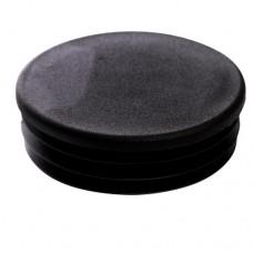 Заглушка пластиковая для труб круглая 80 мм черная