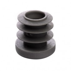 Заглушка пластиковая для круглой трубы ДУ10 18 мм серая