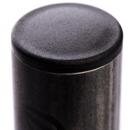 Заглушка круглая 26,8 мм ДУ20 черная