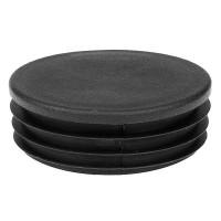 Заглушка круглая 76 мм черная