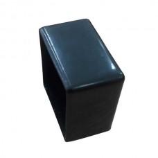 Наружная заглушка на трубу 30x30 черная