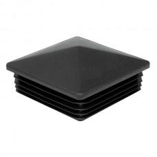 Заглушка на квадратную трубу 100*100 пирамида черного цвета