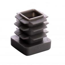 Заглушка для трубы 16x16 плоская серая