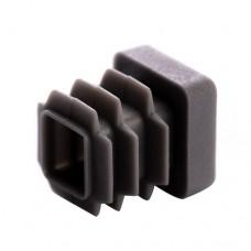 Заглушка для трубы 20x20 плоская серая