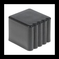 Заглушка наружная для парт 20*20 черная