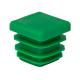 Заглушка для трубы 20x20 плоская зелёная