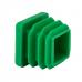 Заглушка зеленая для трубы 20*20 с плоской шляпкой