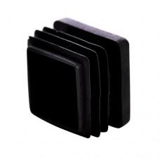 Заглушка для трубы 30x30 плоская черная