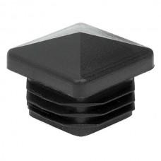 Заглушка для трубы 30x30 пирамида черная