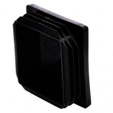 Заглушка пластиковая для профильной трубы 60*60 внутренняя черная