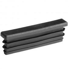 Заглушка для трубы 10х60 плоская черная